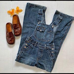 Silver Jeans Medium Wash Bib Overalls